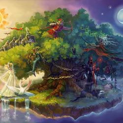 Пазл онлайн: У лукоморья дуб зелёный