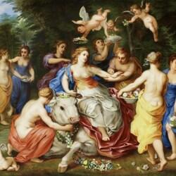 Пазл онлайн: Мифология на фарфоре