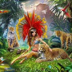 Пазл онлайн: Индейская принцесса
