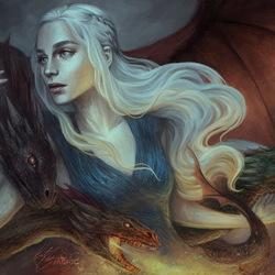 Пазл онлайн: Мать драконов