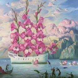 Пазл онлайн: Прибытие корабля цветов