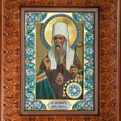 Пазл онлайн: Икона Святитель Иоанн Митрополит Тобольский и всея Сибири чудотворец