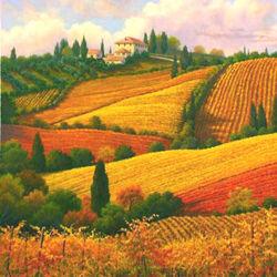 Пазл онлайн: Краски Тосканы