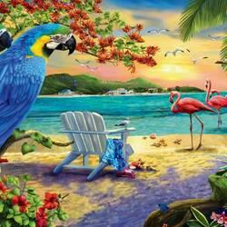 Пазл онлайн: Тропический отдых