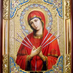 Пазл онлайн: Икона Божией Матери Семистрельная