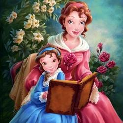 Пазл онлайн: Белль с дочкой