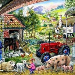 Пазл онлайн: Фермерские заботы