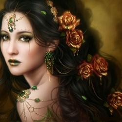 Пазл онлайн: Золотая роза