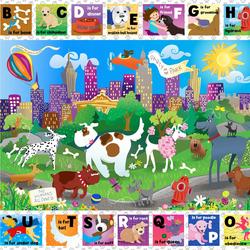 Пазл онлайн: Собачий алфавит