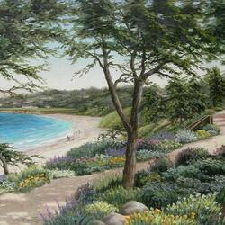 Пазл онлайн: Тропинка вдоль берега