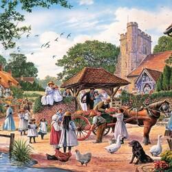 Пазл онлайн: Сельская свадьба