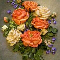 Пазл онлайн: Шелковые розы