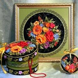 Пазл онлайн: Цветочсный комплект