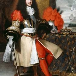 Пазл онлайн: Людовик  XIV , король Франции и Наварры