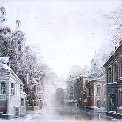 Пазл онлайн: Тишайший снегопад
