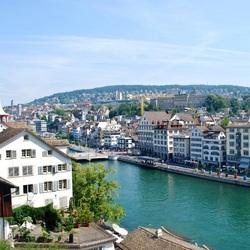 Пазл онлайн: Цюрих, вид на Лимматкай
