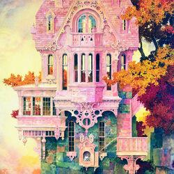 Пазл онлайн: Розовый замок