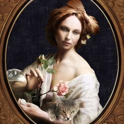 Пазл онлайн: Анна Снаткина и кошка Зиночка