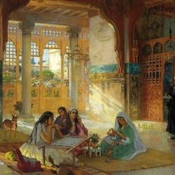 Пазл онлайн: Интерьер арабского дворца