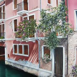 Пазл онлайн: Розовый дом
