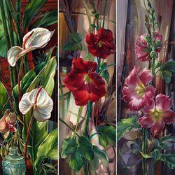 Пазл онлайн: Коллаж из цветов