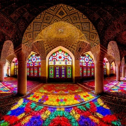 Пазл онлайн: Мечеть Насир Аль-Мульк, Иран