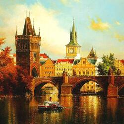 Пазл онлайн: Золотая Прага