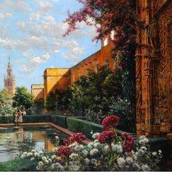 Пазл онлайн: Севильские сады