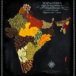 Пазл онлайн: Съедобные карты мира