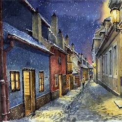 Пазл онлайн: Злата уличка зимой