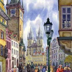 Пазл онлайн: Выезд со Староместской площади