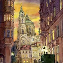 Пазл онлайн: Прага романтическая и мистическая