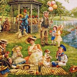 Пазл онлайн: Семейный пикник