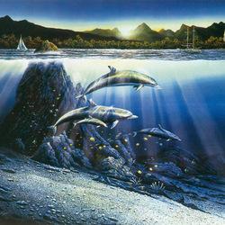 Пазл онлайн: Дельфинья бухта