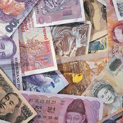 Пазл онлайн: Деньги разных стран