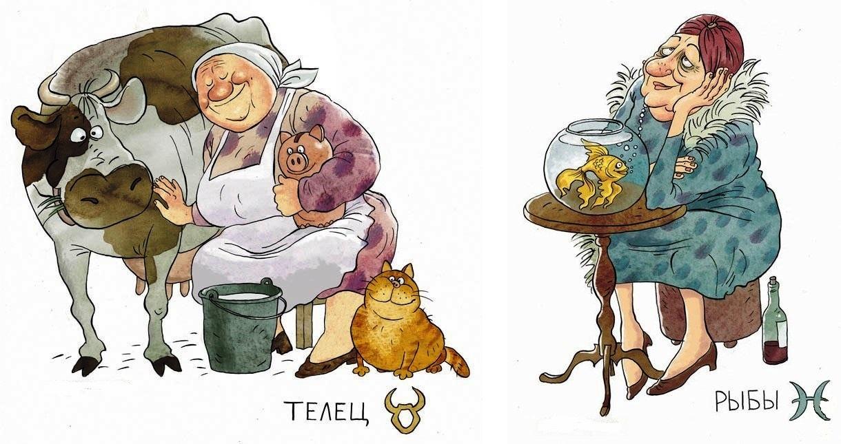 Смешные бабушки в рисунке