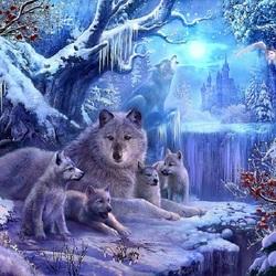 Пазл онлайн: Волчья зима