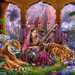 Пазл онлайн: Индийская принцесса