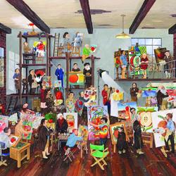 Пазл онлайн: Яблоко глазами художника: 1 яблоко, 37 художников