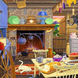 Пазл онлайн: Вечером на кухне