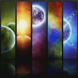 Пазл онлайн: Космические жалюзи