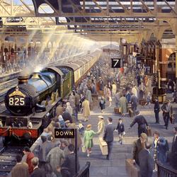 Пазл онлайн: Субботнее утро на вокзале Сноу-Хилл