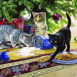 Пазл онлайн: Новогодний беспорядок