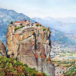 Пазл онлайн: Высоко в горах