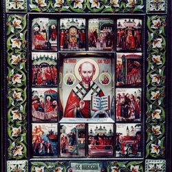 Пазл онлайн: Икона Святой Николай Чудотворец с житием