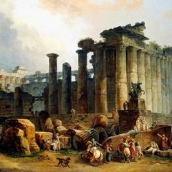 Пазл онлайн: Развалины храма