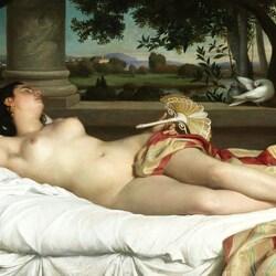 Пазл онлайн: Спящая римлянка