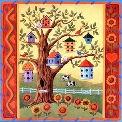Пазл онлайн: Соседи по дереву