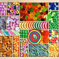 Пазл онлайн: Разноцветные сладости