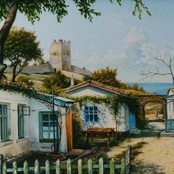 Пазл онлайн: Феодосийские дворики